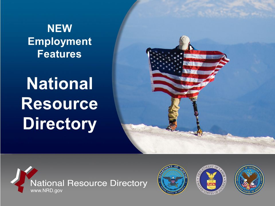NEW Employment Features National Resource Directory