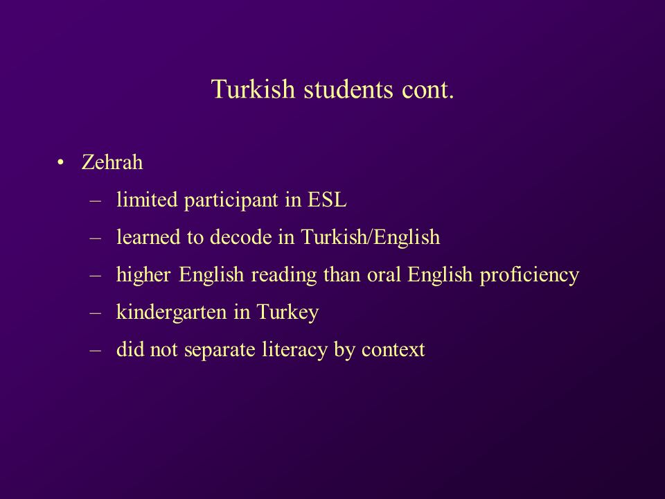 Turkish students cont.