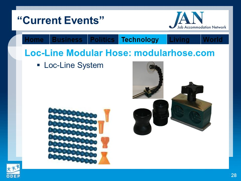 Loc-Line Modular Hose: modularhose.com Loc-Line System 28 Current Events HomeBusinessPoliticsTechnologyLivingWorld