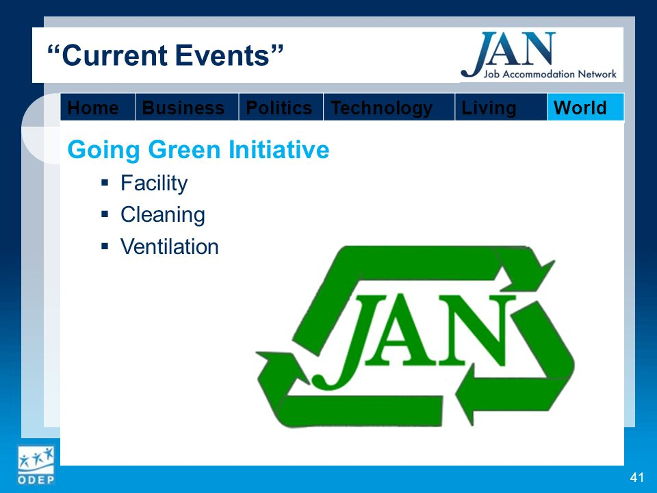 Going Green Initiative Facility Cleaning Ventilation 41 Current Events HomeBusinessPoliticsTechnologyLivingWorld