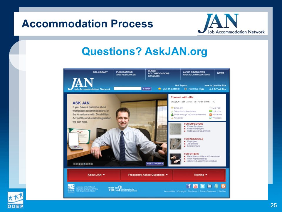 Questions AskJAN.org Accommodation Process 25