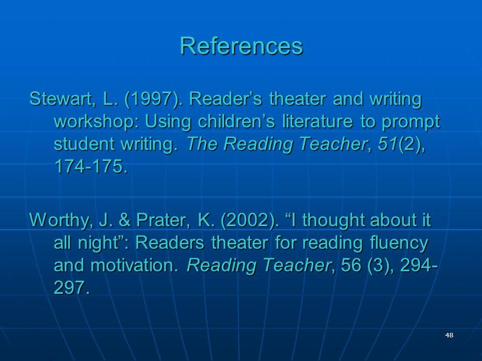 References Stewart, L. (1997).