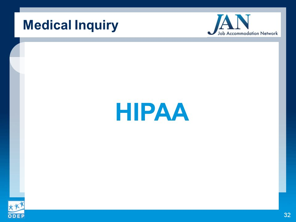 Medical Inquiry HIPAA 32