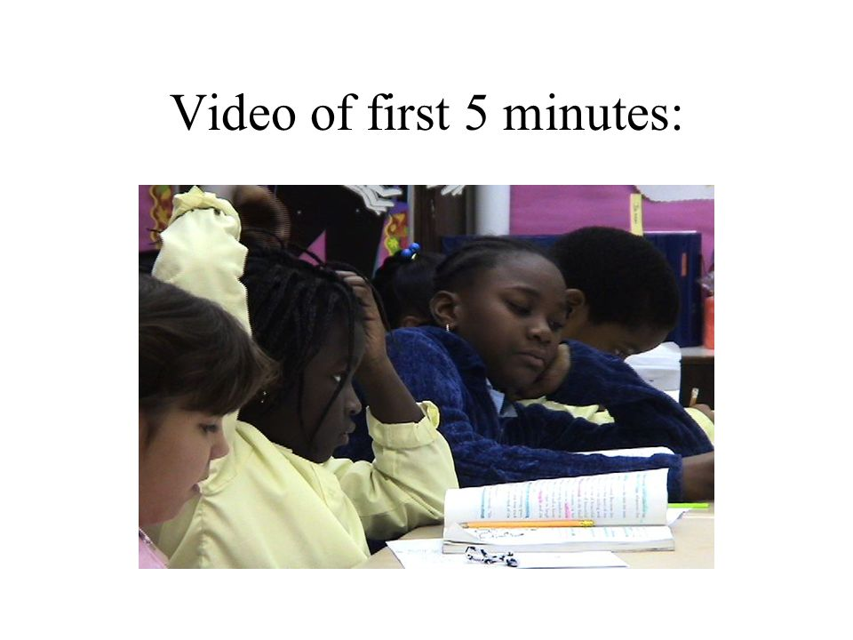 Video of first 5 minutes: