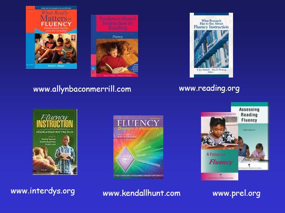 www.reading.org www.kendallhunt.com www.interdys.org www.allynbaconmerrill.com www.prel.org