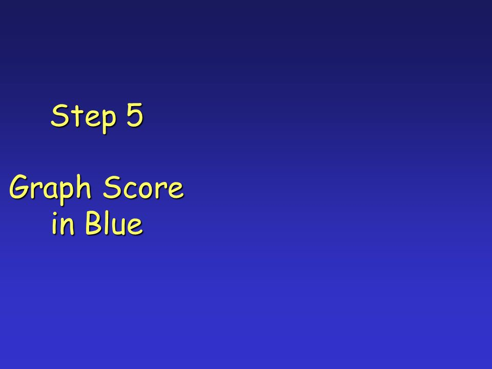 Step 5 Graph Score in Blue