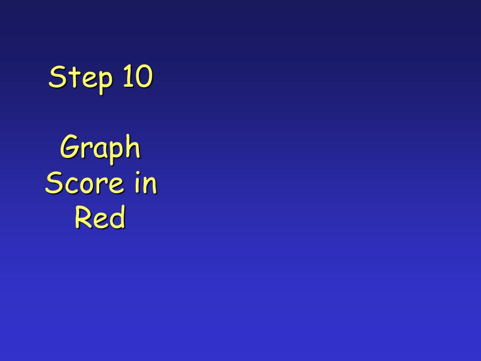 Step 10 Graph Score in Red