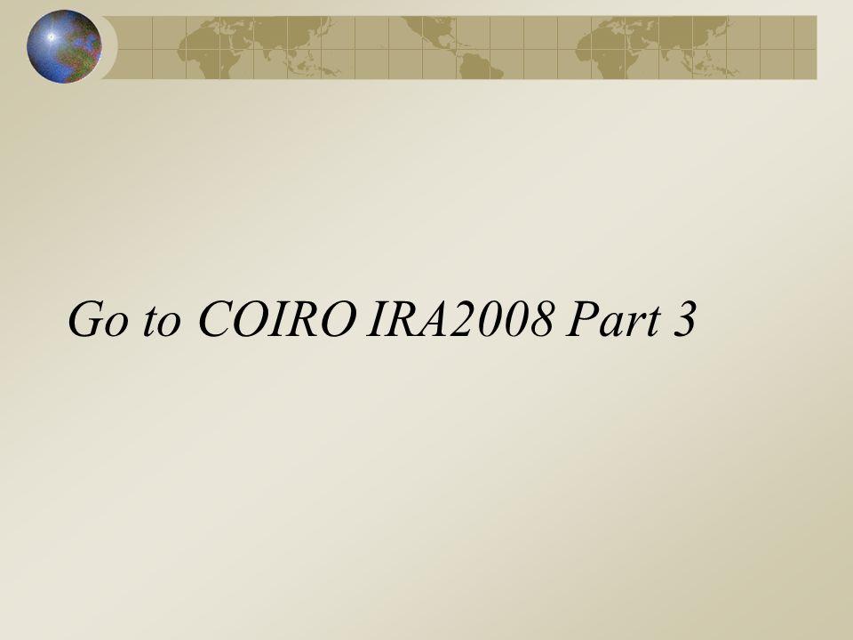 Go to COIRO IRA2008 Part 3