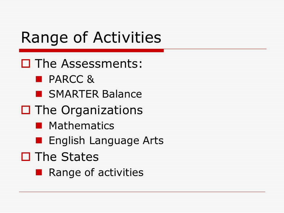 Types of Activities for State Councils Share information with your members Newsletters Conference sessions Workshops Outreach to your State Education Agency (SEA) Draft Statement or set of recommendations