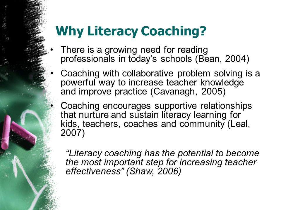 Why Literacy Coaching.
