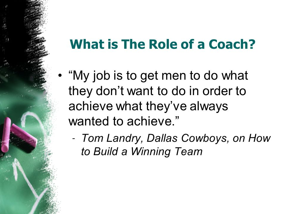 What is The Role of a Coach.
