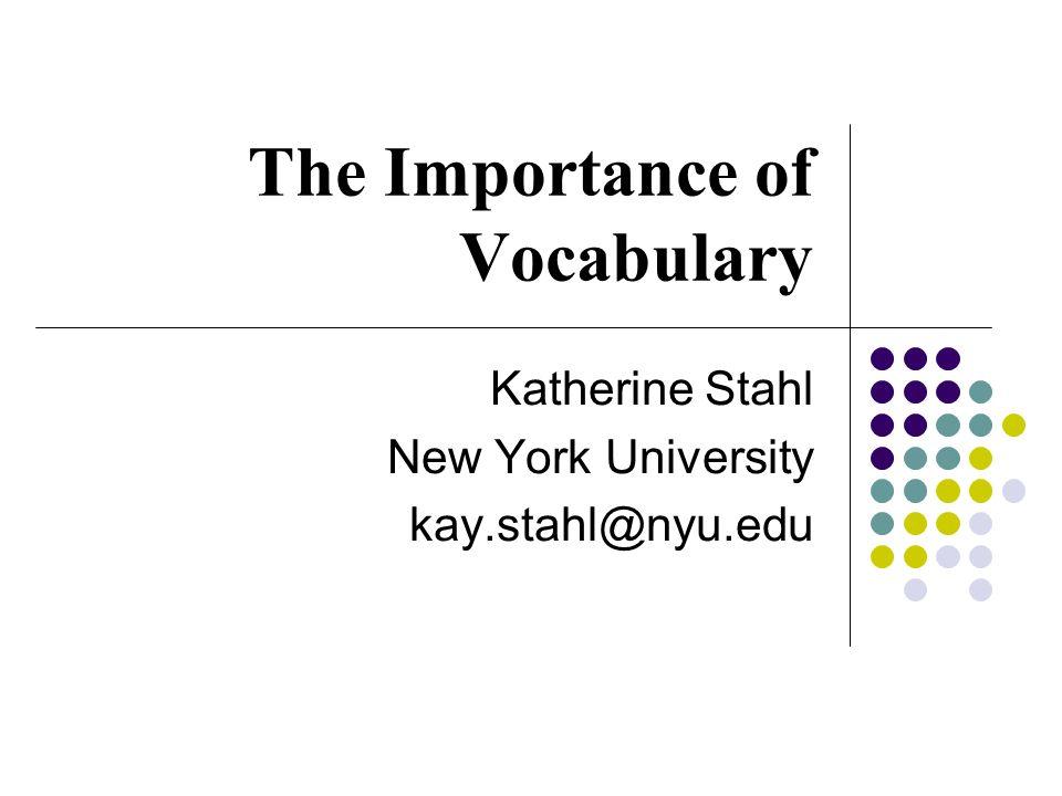 Practical Strategies for Consolidating Vocabulary Susan Bohman Talcott Elementary School-Chicago, IL Ellen Finnegan Walker Elementary School- Evanston, IL