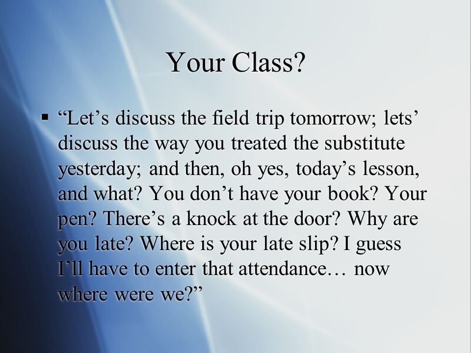 Your Class.