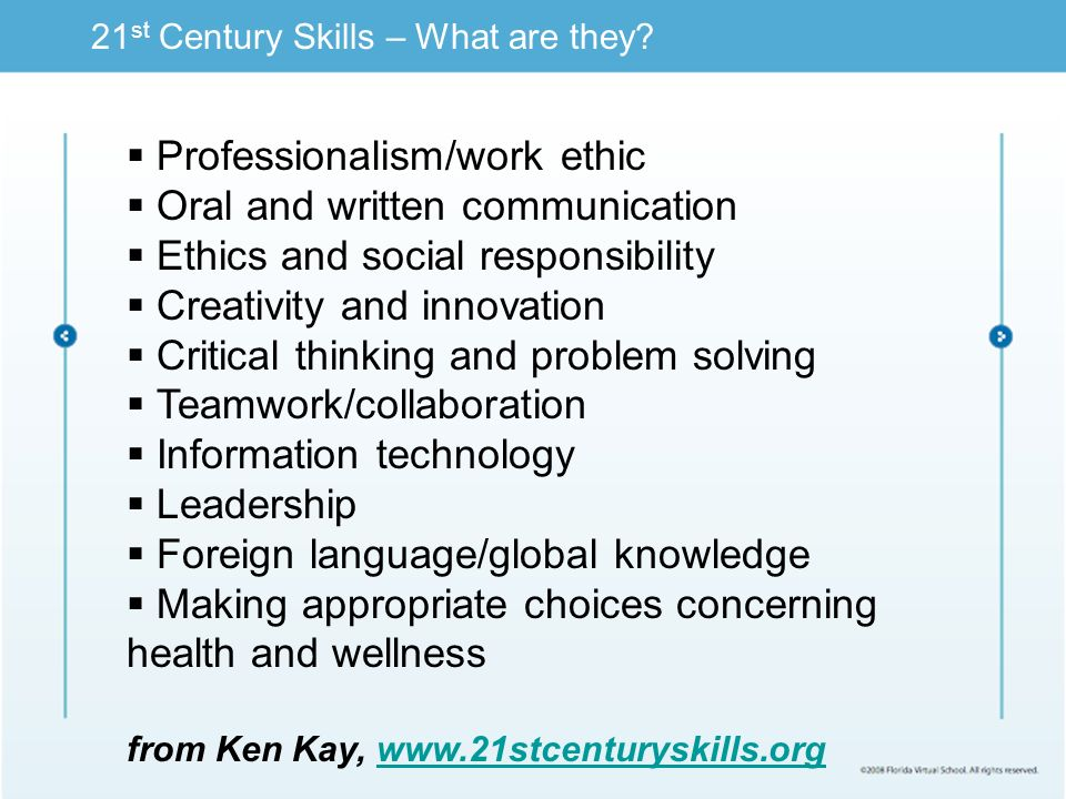 21 st Century Skills – What are they.