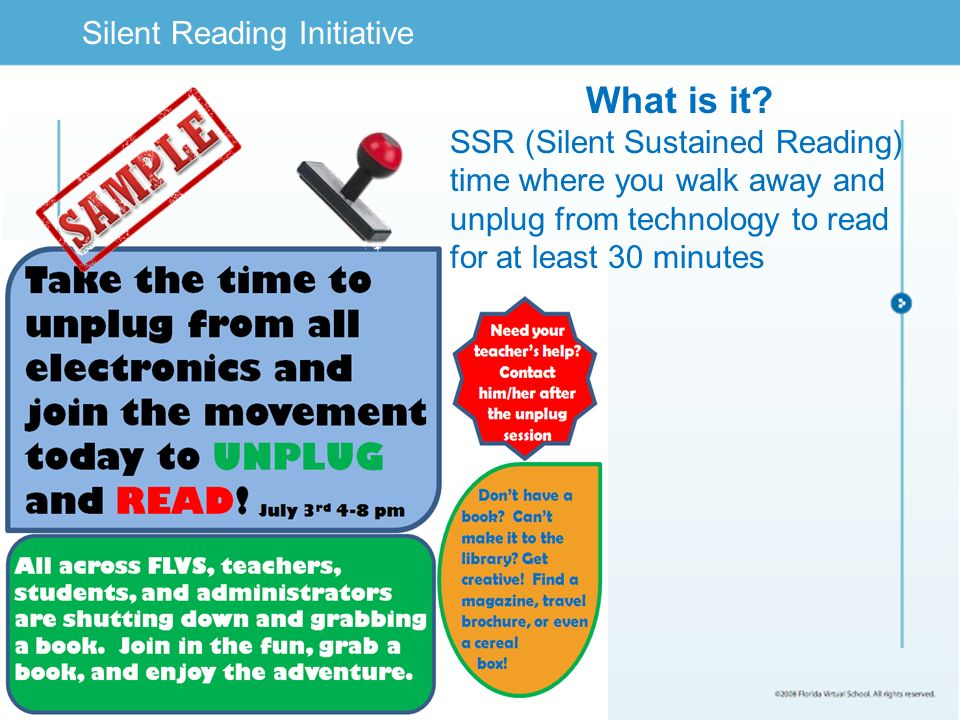 Limited Text Silent Reading Initiative What is it.