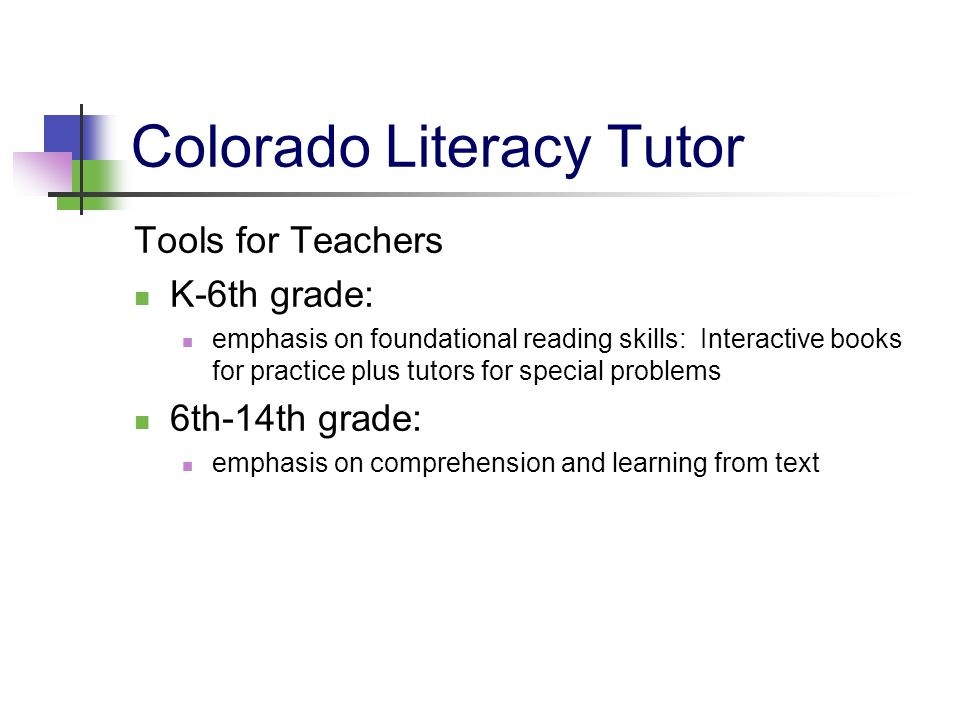 Colorado Literacy Tutor Tools for Teachers K-6th grade: emphasis on foundational reading skills: Interactive books for practice plus tutors for specia