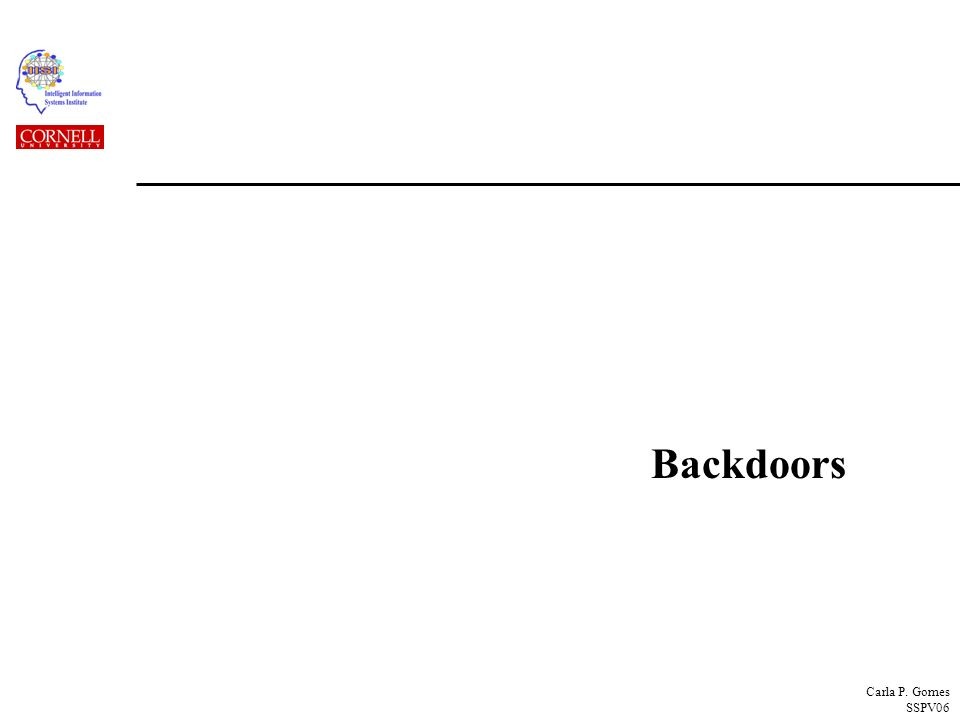 Carla P. Gomes SSPV06 Backdoors