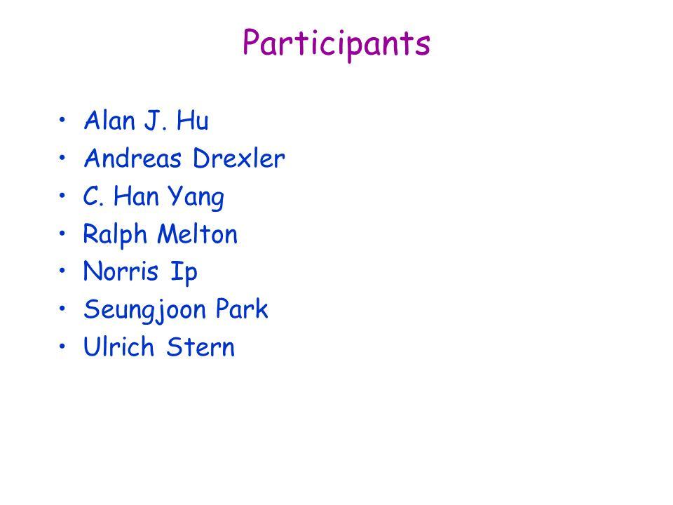 Participants Alan J. Hu Andreas Drexler C.