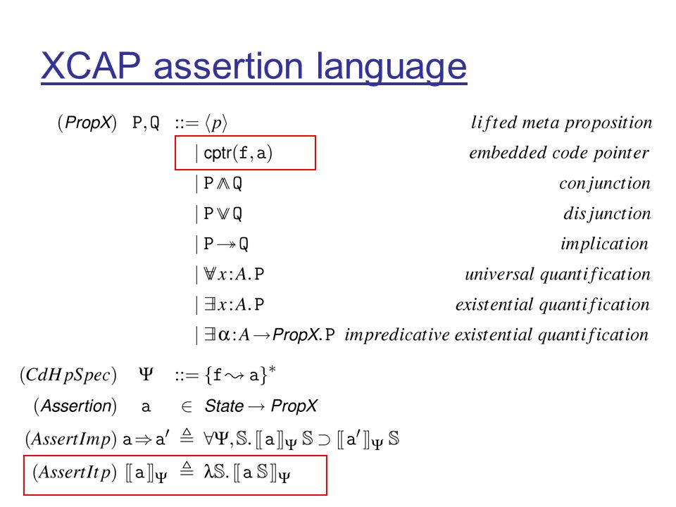 XCAP assertion language