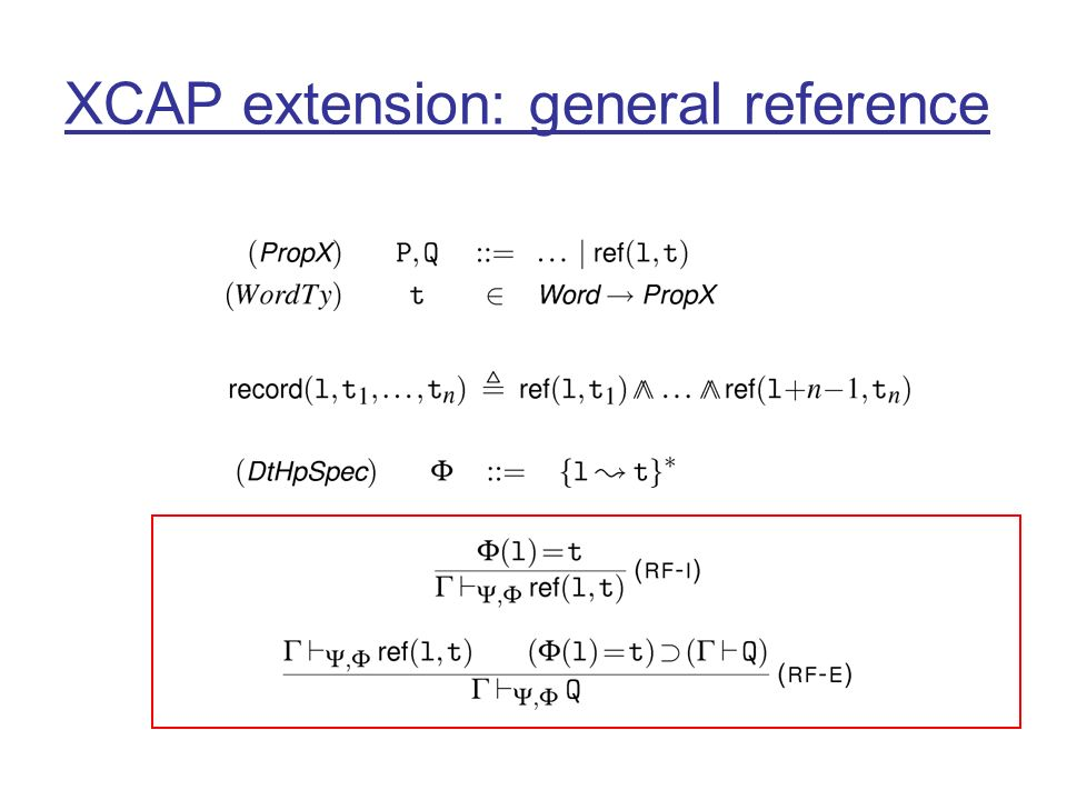 XCAP extension: general reference