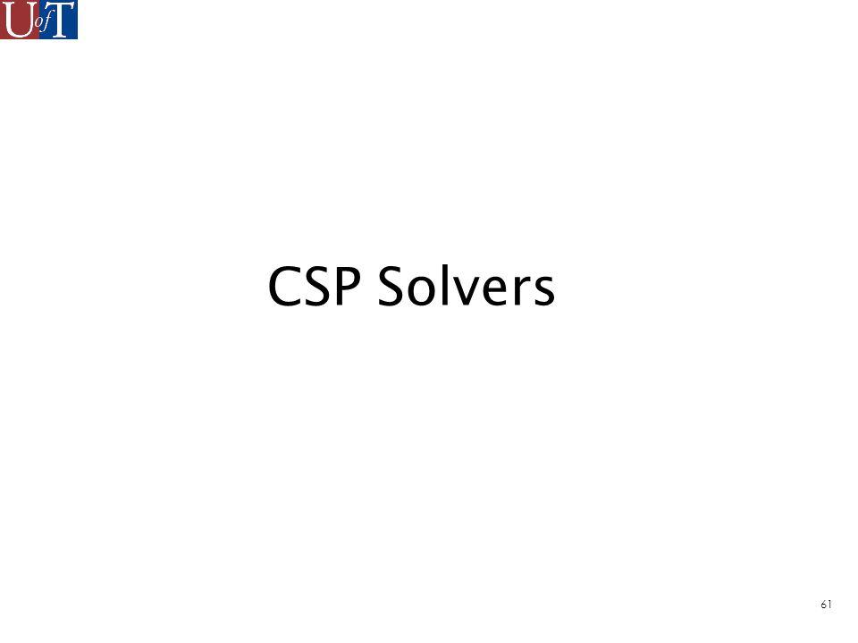 61 CSP Solvers