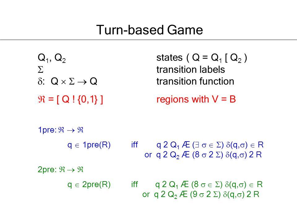Q 1, Q 2 states( Q = Q 1 [ Q 2 ) transition labels : Q Q transition function = [ Q .