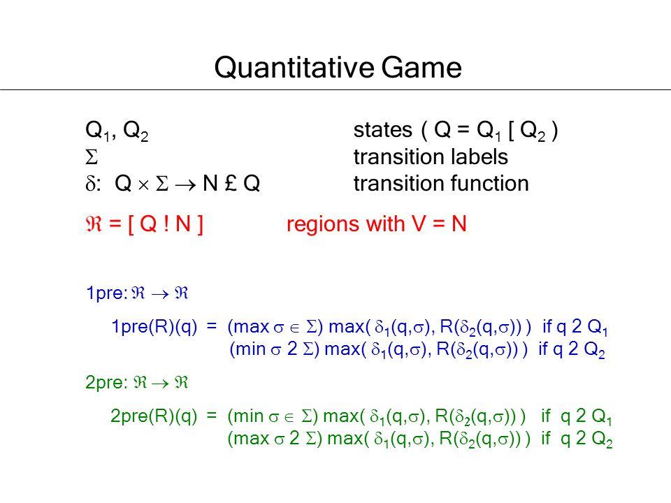 Q 1, Q 2 states( Q = Q 1 [ Q 2 ) transition labels : Q N £ Q transition function = [ Q .