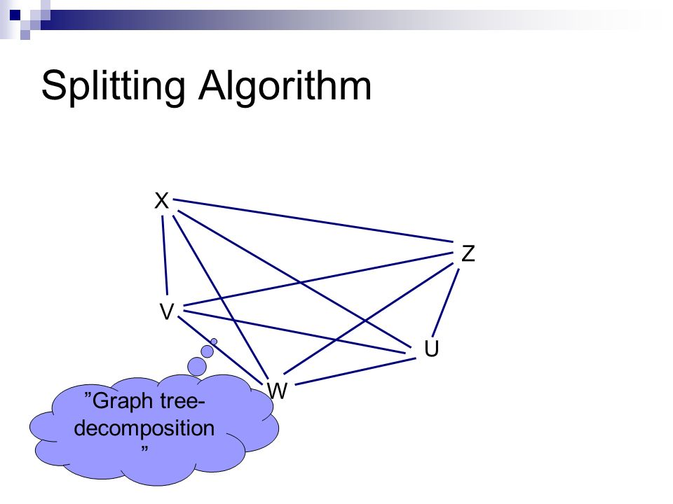 X V Z U W Graph tree- decomposition
