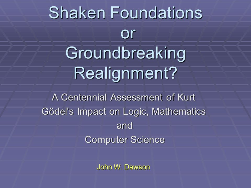 Shaken Foundations or Groundbreaking Realignment.