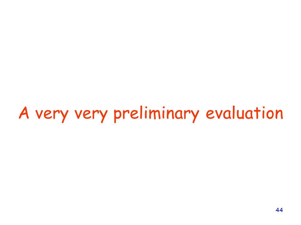 44 A very very preliminary evaluation