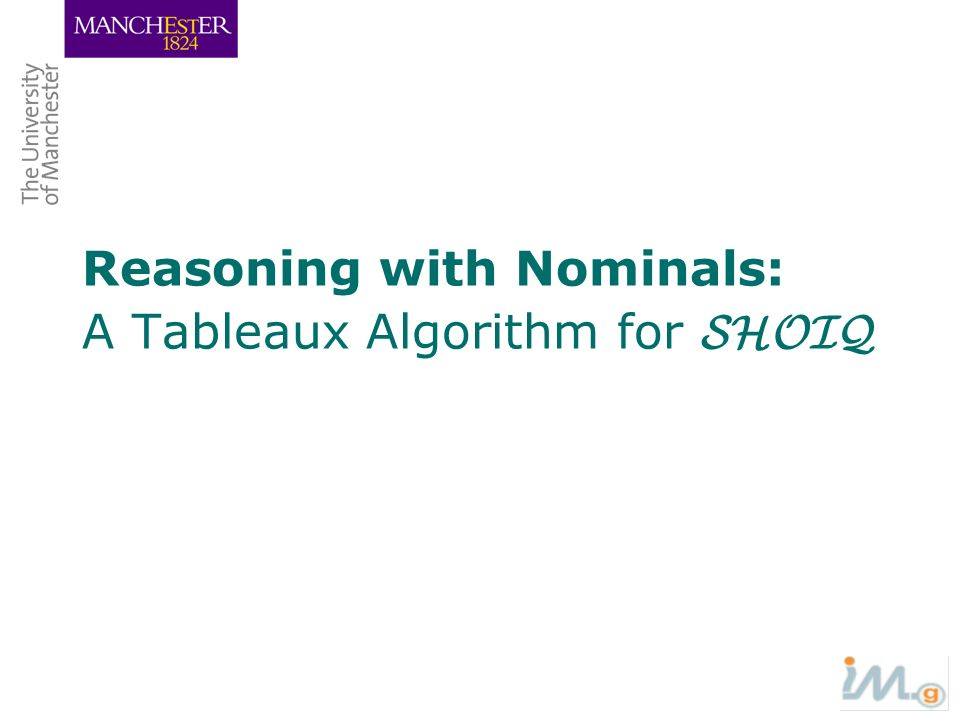 Reasoning with Nominals: A Tableaux Algorithm for SHOIQ