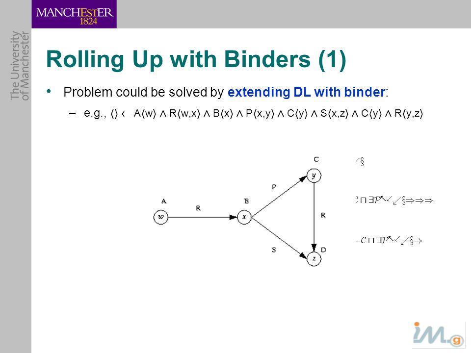 Rolling Up with Binders (1) C u 9P -..x x.B D u 9R -.