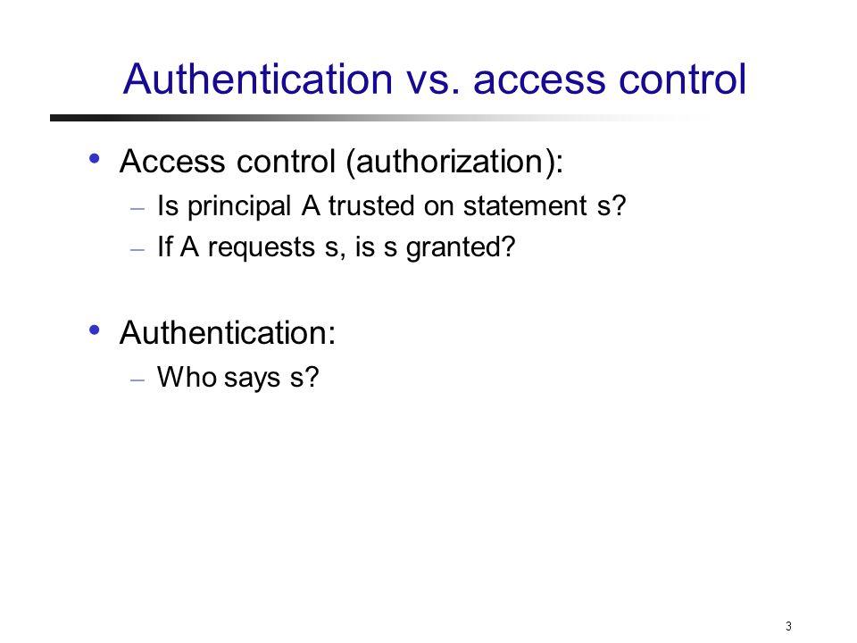 3 Authentication vs.
