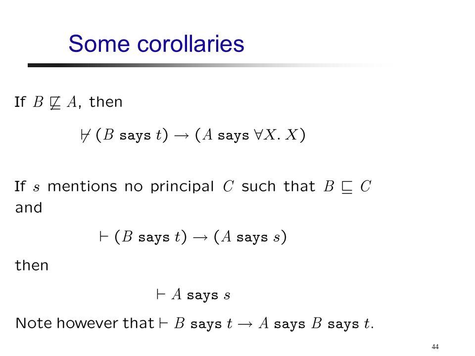 44 Some corollaries