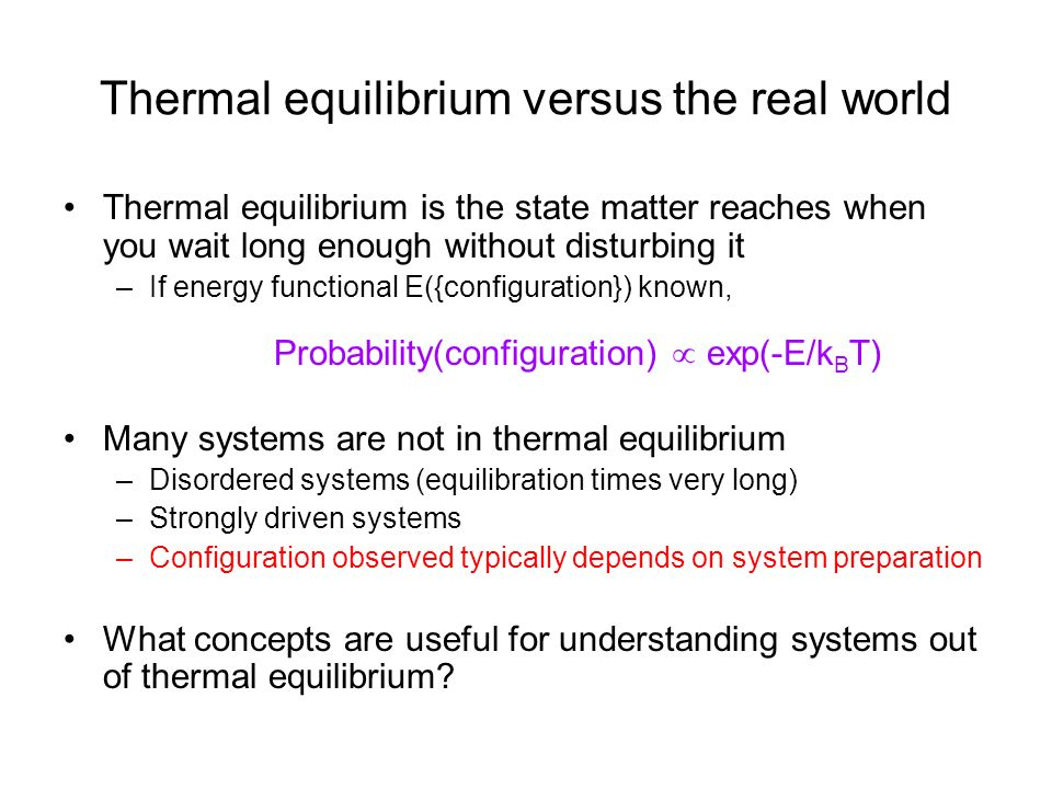 Powerful concepts that apply to equilibrium systems Phases of matter –Liquid, solid, gas –Ferromagnet, paramagnet …..