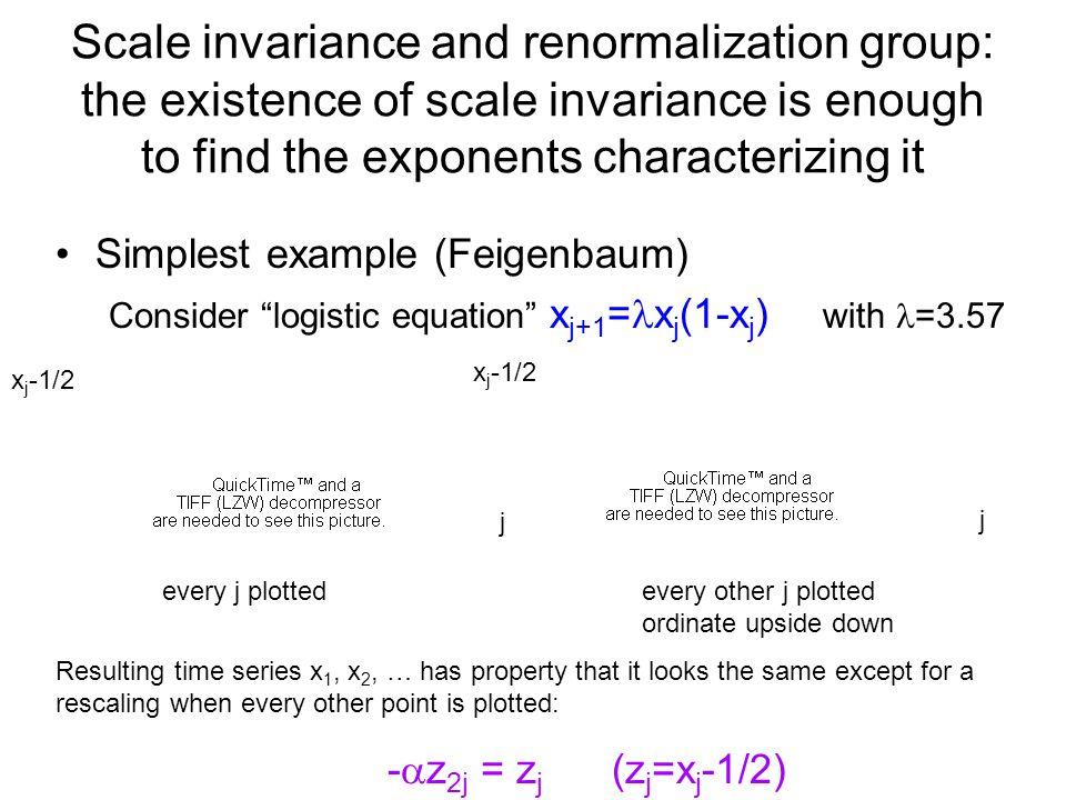 Scale invariance quantitative prediction of exponent values - z 2j = z j zjzj zjzj jj