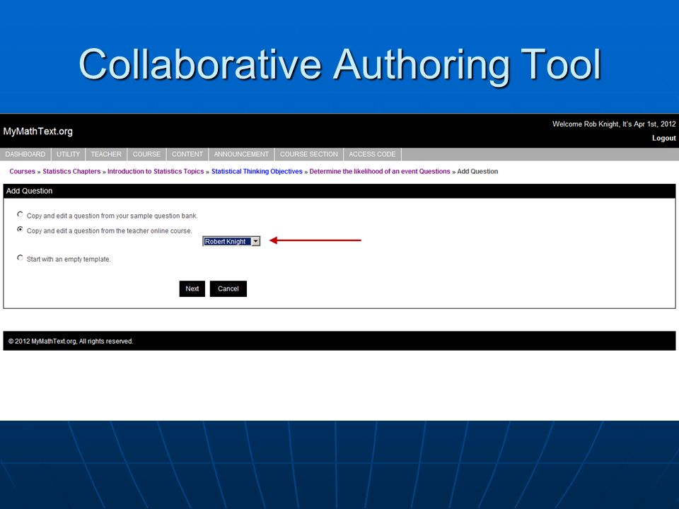 Collaborative Authoring Tool