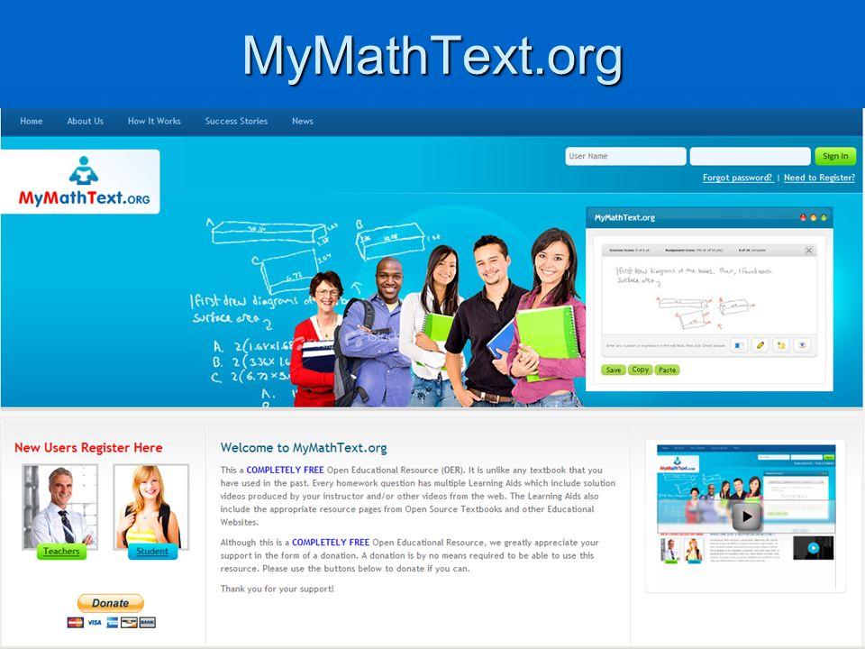 MyMathText.org
