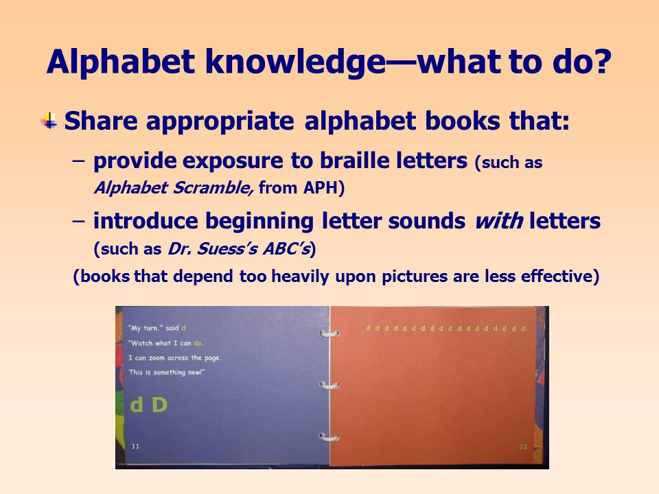Alphabet knowledgewhat to do.