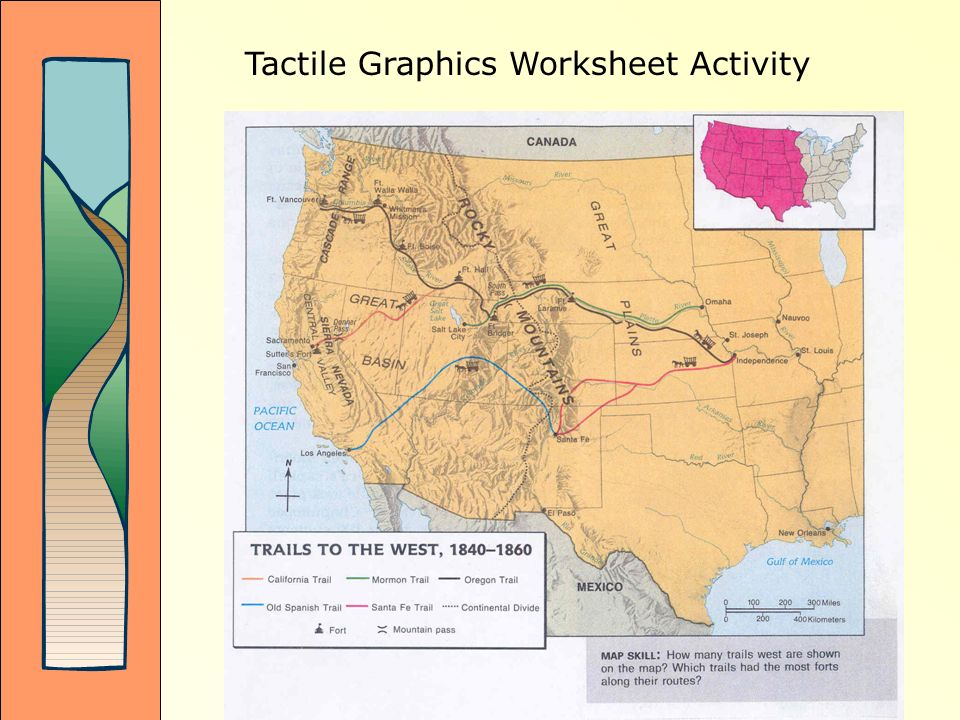 Tactile Graphics Worksheet Activity