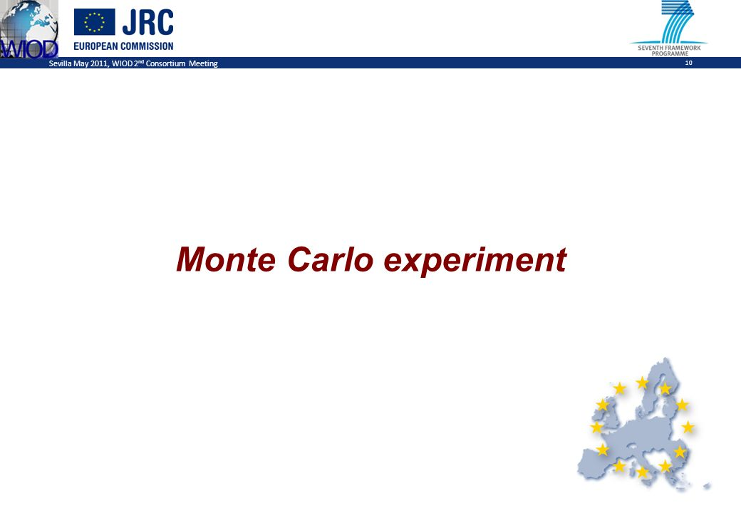 Sevilla May 2011, WIOD 2 nd Consortium Meeting 10 Monte Carlo experiment