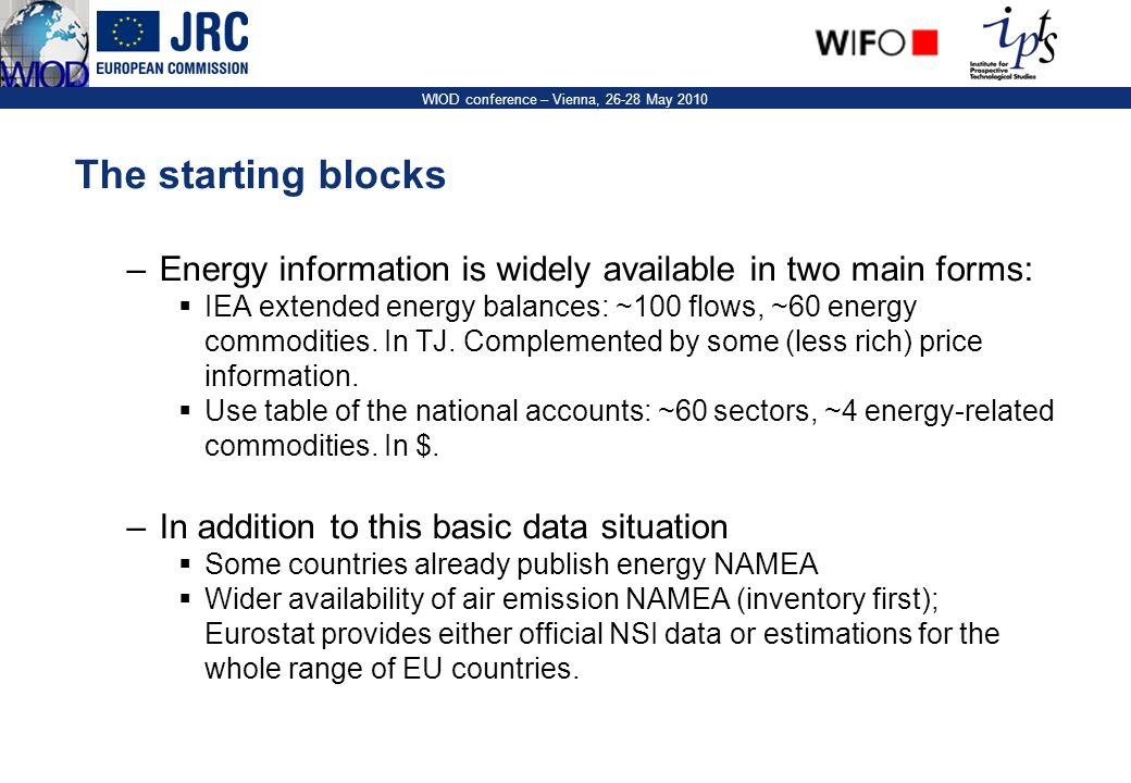 6 WIOD conference – Vienna, 26-28 May 2010 The Energy NAMEA DE 2000. Source: DESTAT