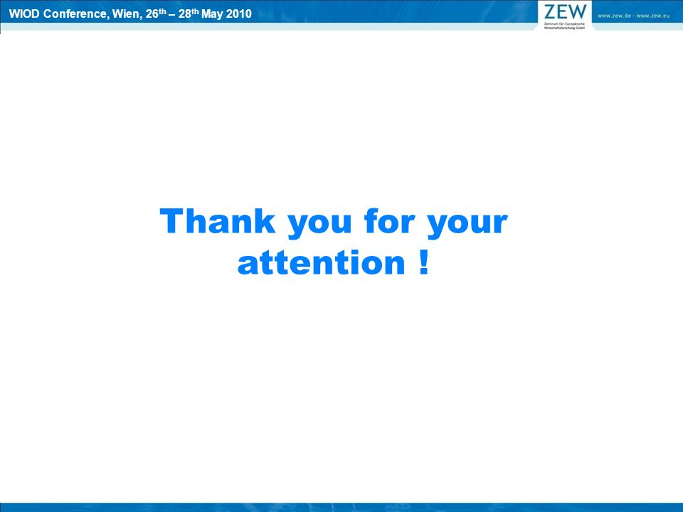 Thank you for your attention ! WIOD Conference, Wien, 26 th – 28 th May 2010