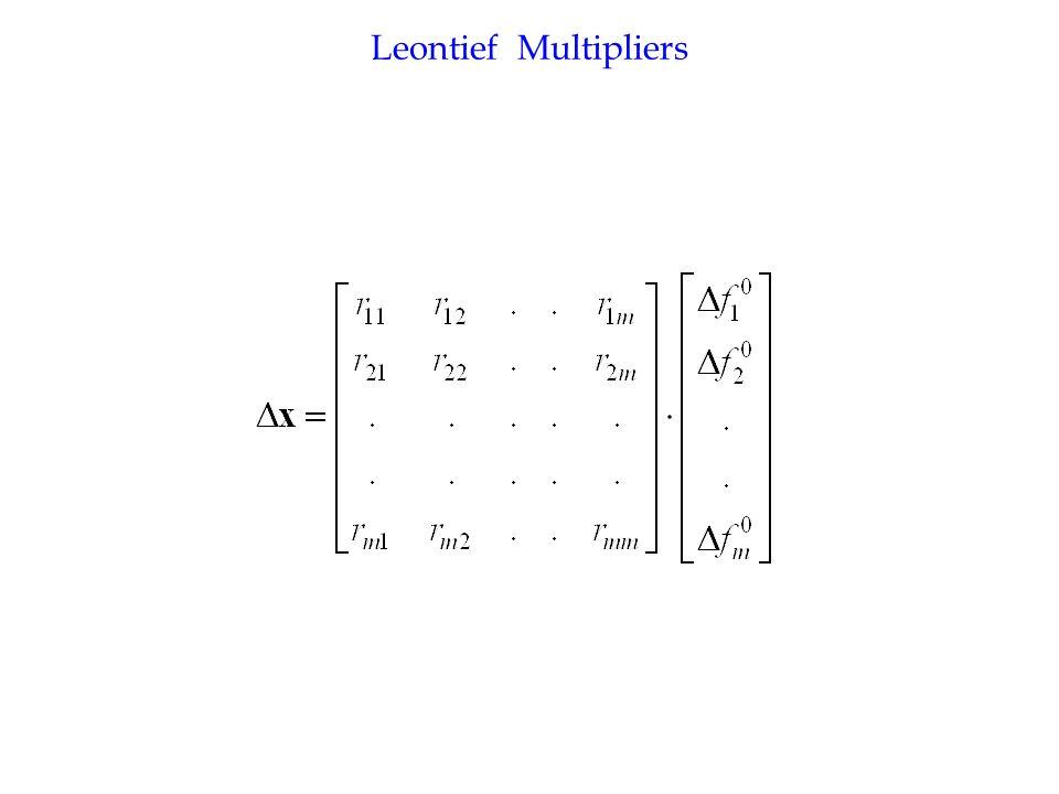 Leontief Multipliers