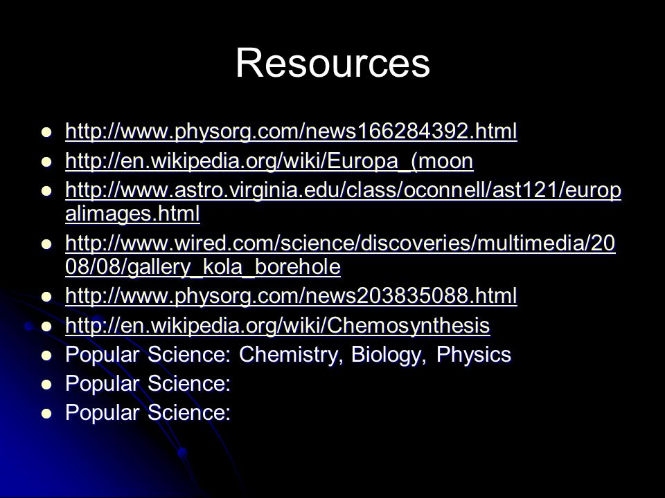 Resources http://www.physorg.com/news166284392.html http://www.physorg.com/news166284392.html http://www.physorg.com/news166284392.html http://en.wiki