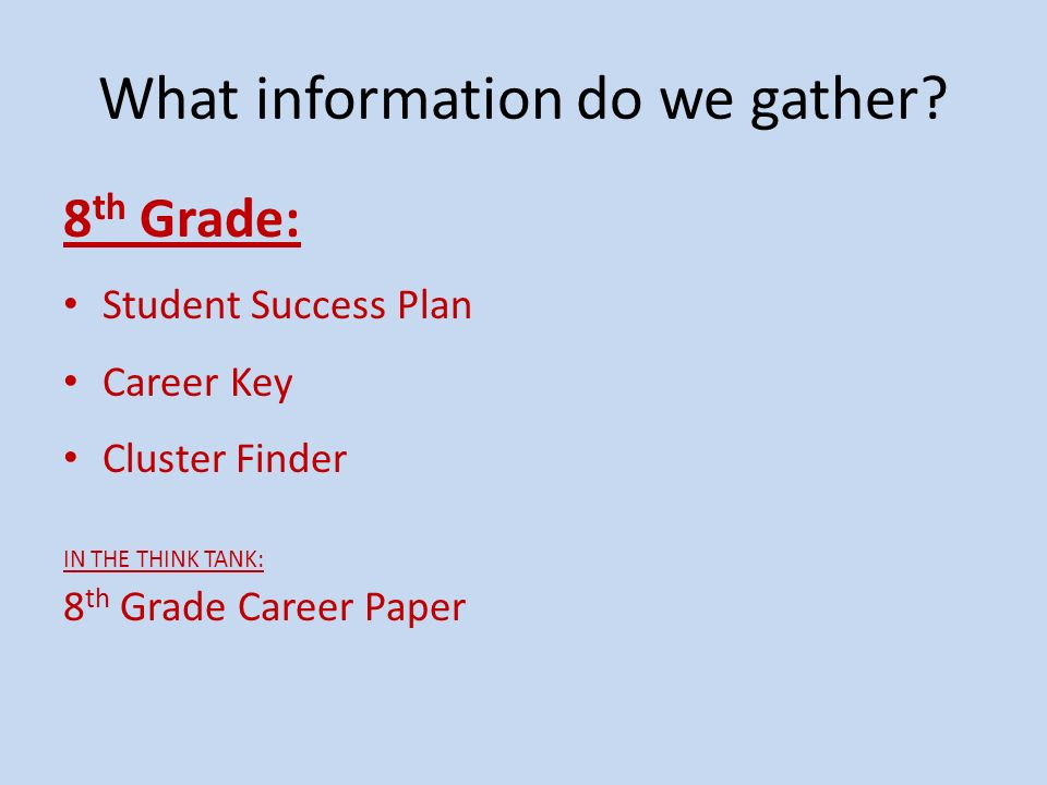 When do we gather data.ROTATIONS Presentations for all students beginning in September.