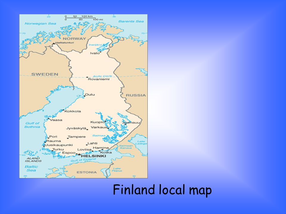 Finland local map