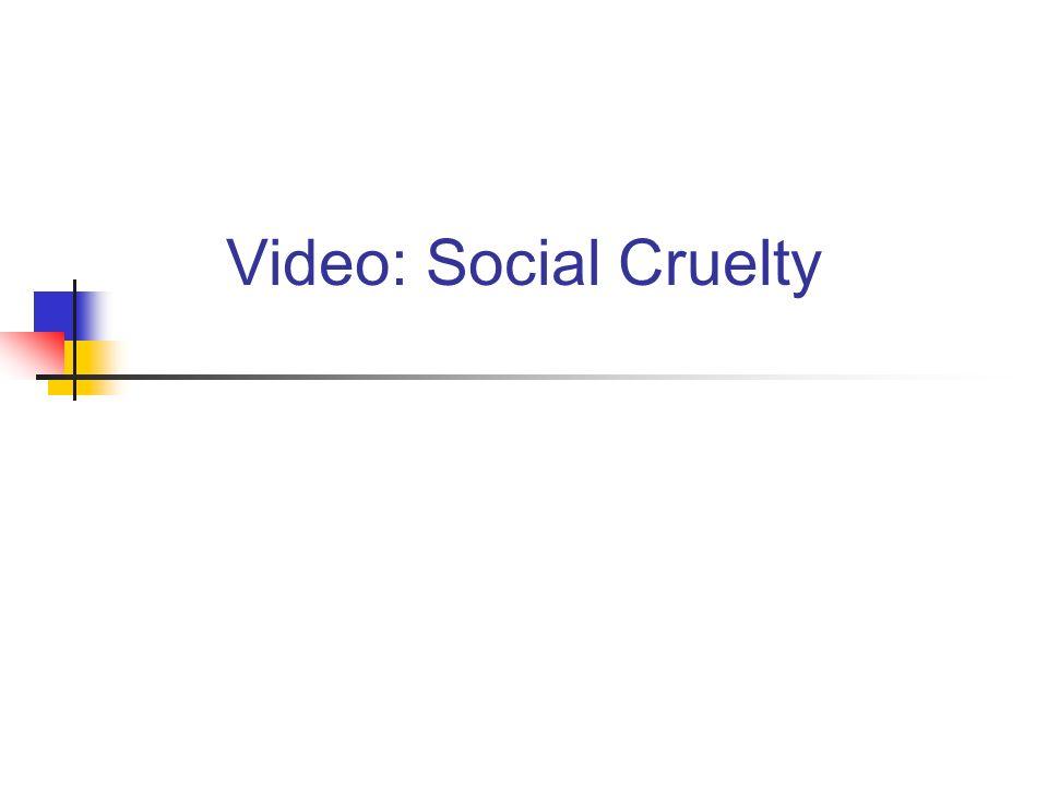 Video: Social Cruelty