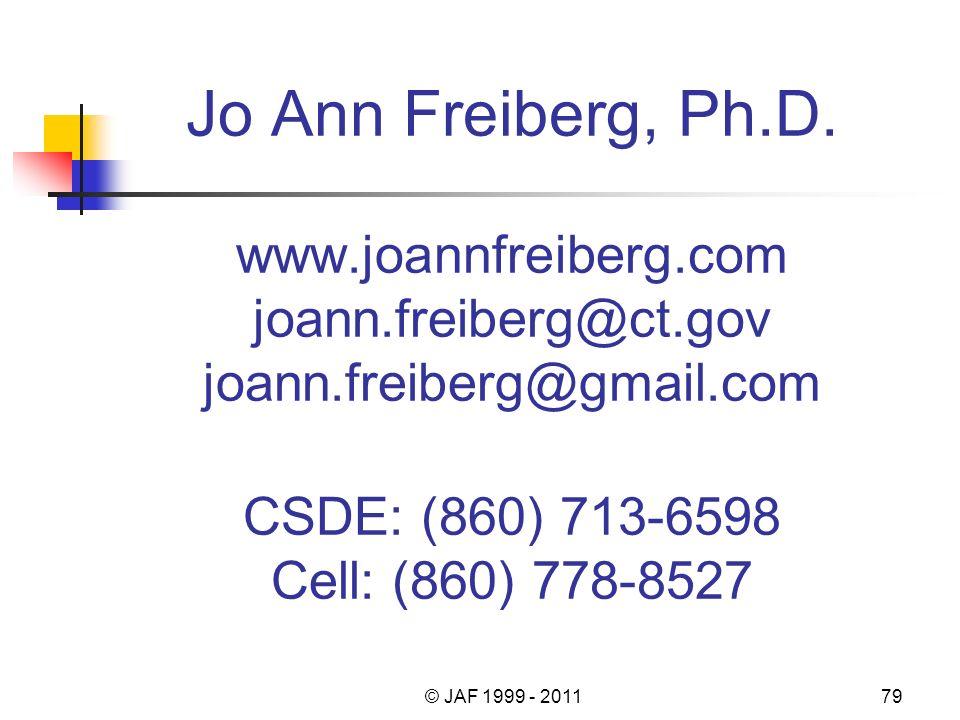 Jo Ann Freiberg, Ph.D.
