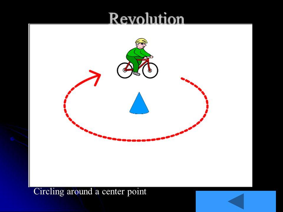 Revolution Circling around a center point